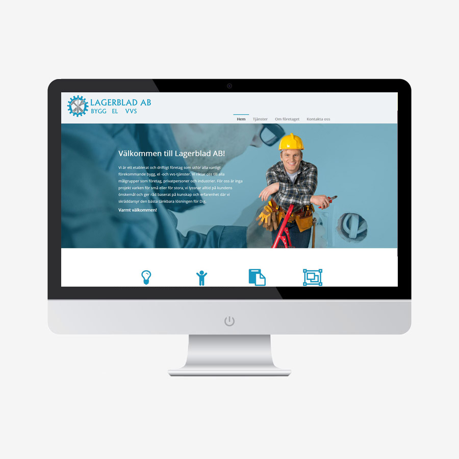 enkel och billig hemsida