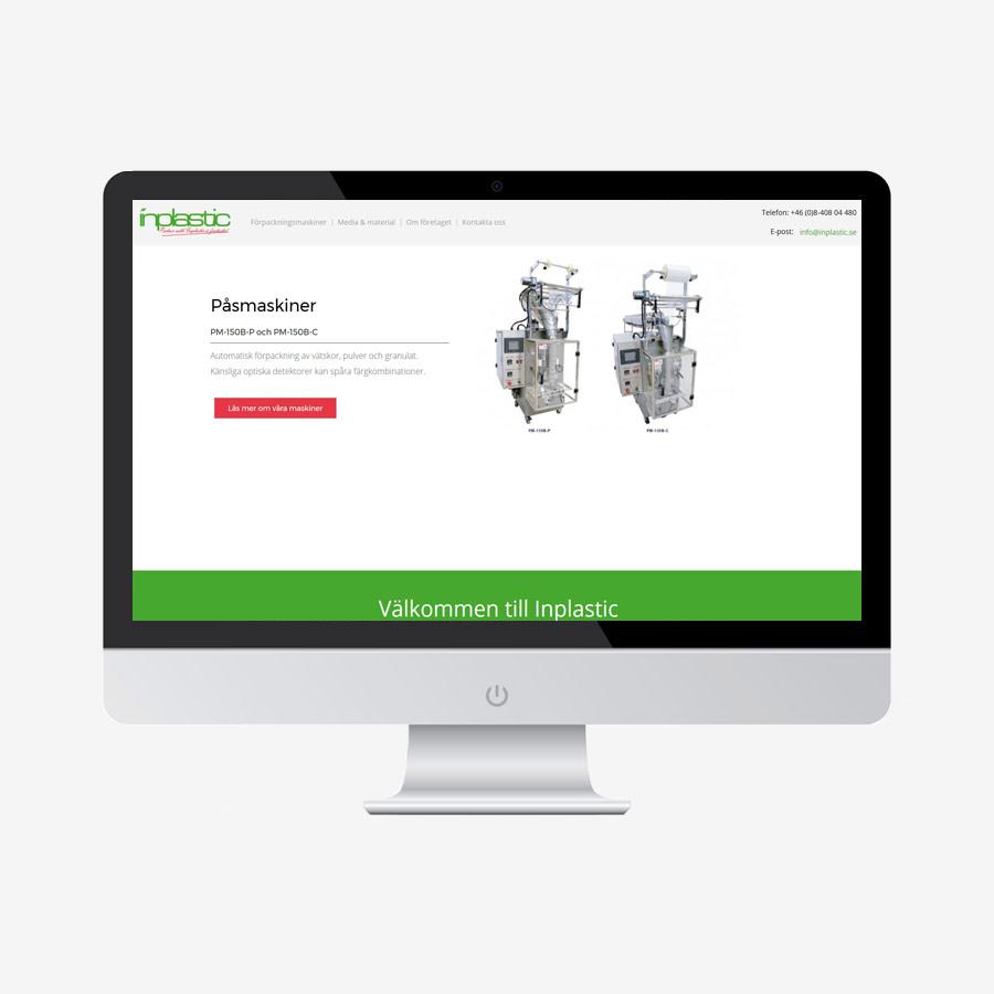 Inplastic - Hemsidan och design