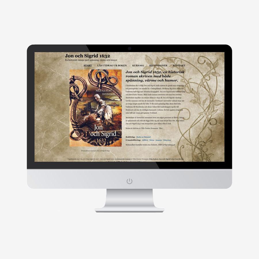 Jon och Sigrid 1632 Hemsida design
