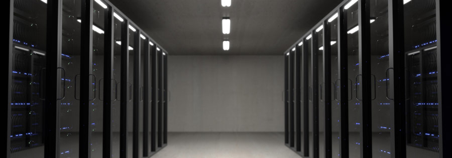 servrar i ett serverrum