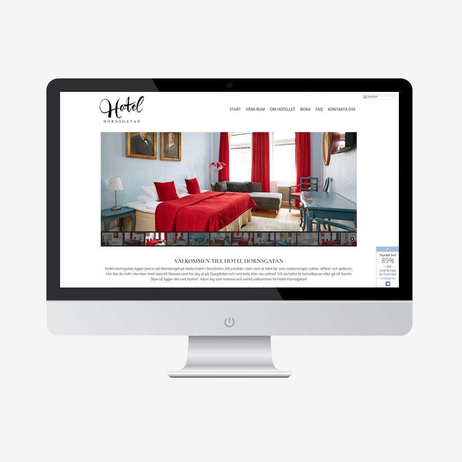 Hotel Hornsgatan hemsida