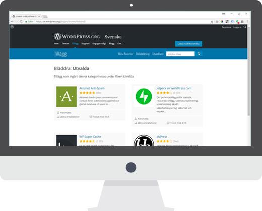 Wordpress tillägg