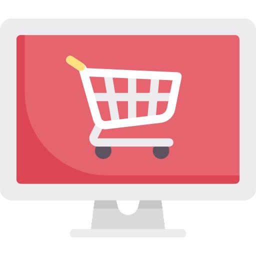 e-handel ikon rod